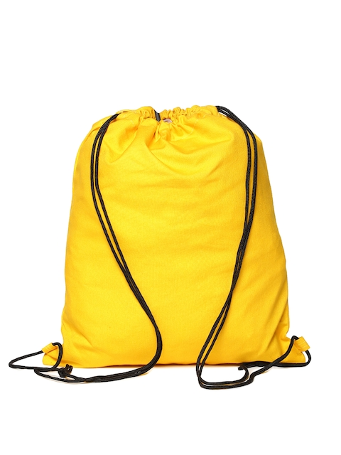 Campus Sutra Unisex Yellow Solid Backpack