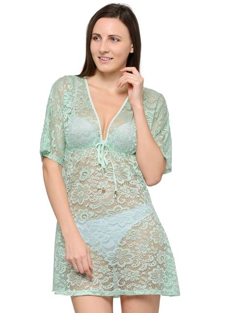 N-Gal Blue Sheer Cover-up Dress NG42054