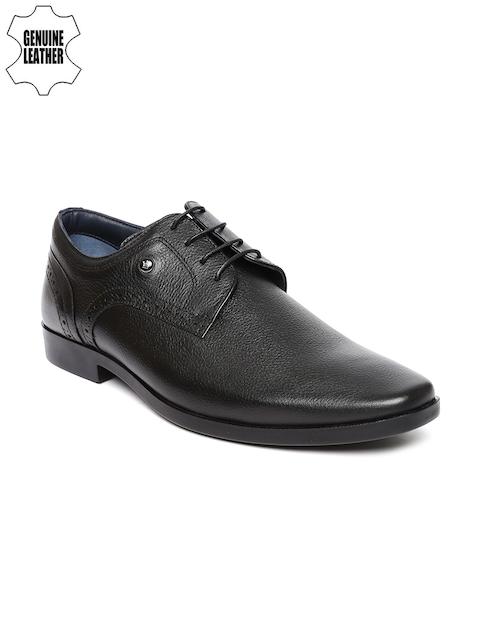 Louis Philippe Men Black Genuine Leather Derbys