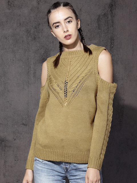 Roadster Women Tan Brown Solid Pullover