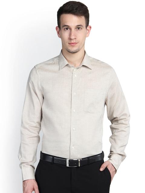 Blackberrys Beige Smart Fit Formal Shirt