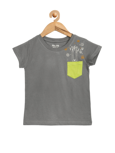 NO.99 Boys Grey Printed T-shirt  available at myntra for Rs.269