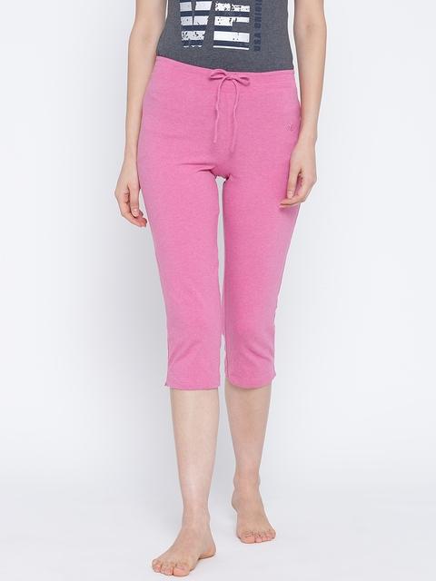 Jockey Pink Slim Fit Lounge Capris 1300-0105-IBRML