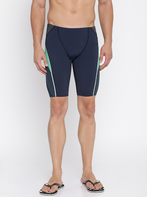 Speedo Men Navy Printed Swim Shorts 810378B370