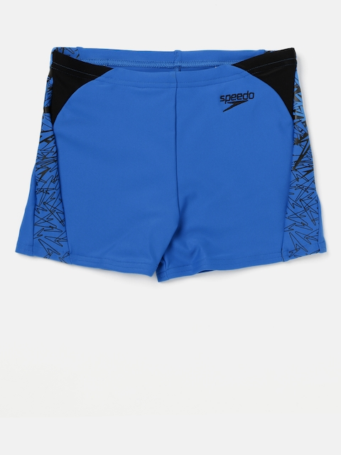 Speedo Boys Blue Printed Swim Shorts 810848B490