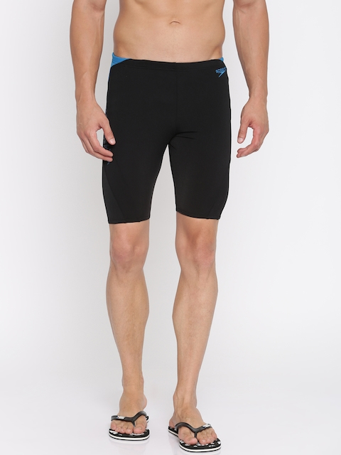 Speedo Men Black Printed Swim Shorts 810856B442