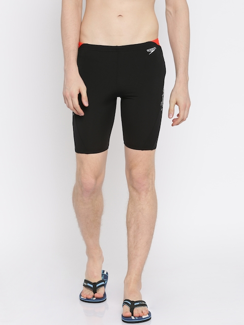 Speedo Men Black Printed Swim Shorts 810856B444