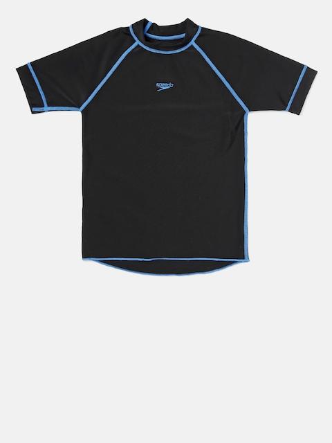 Speedo Boys Black Swimwear Short Sleeve Suntop 8PSB01P012