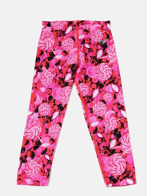 Speedo Girls Pink Printed Swim Capris 8PSG04B482