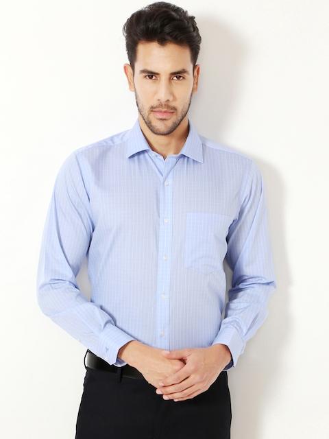 Van Heusen Men Blue Contemporary Fit Checked Formal Shirt