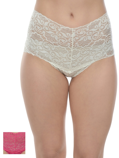 Da Intimo Pack of 2 Lace Briefs