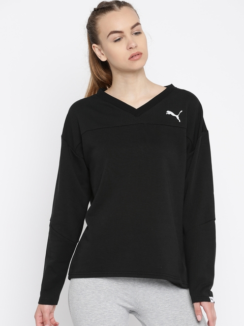 Puma Women Black Printed Sweatshirt