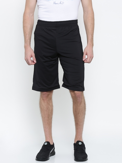 Puma Men Black Solid Regular Fit Evo Core Bermuda Sports Shorts