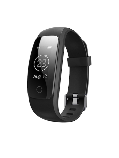 ENHANCE Unisex Black Fitness Band ID107HR Plus