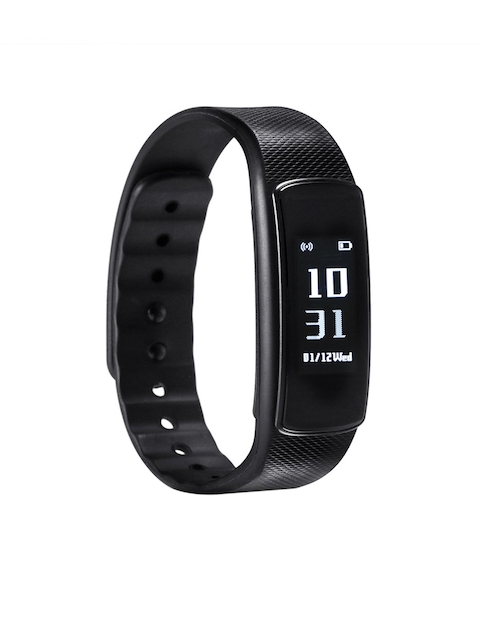 ENHANCE Unisex Black Fitness Band i6 HR