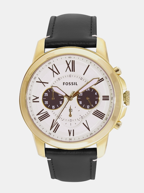 Fossil Men Cream-Coloured Analogue Watch FS5272I
