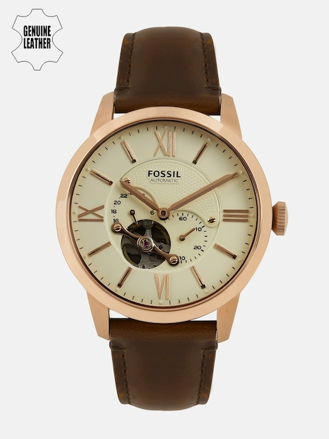 Fossil Men Beige Analogue Watch ME3105