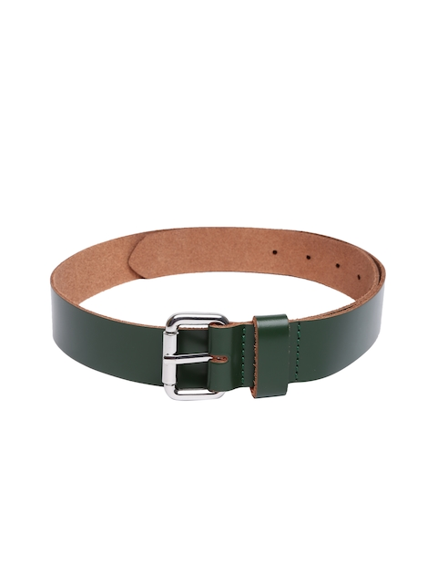 VIARI Women Green Solid Leather Belt