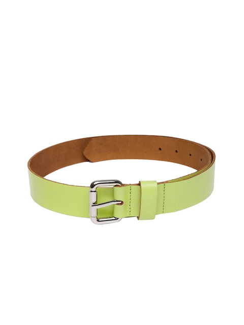 VIARI Women Lime Green Solid Leather Belt