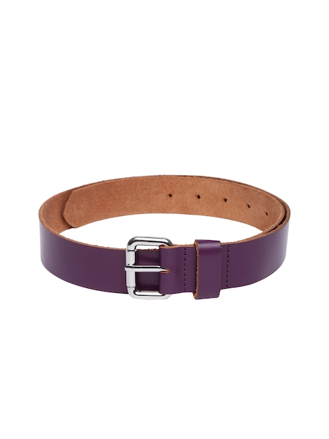 VIARI Women Purple Solid Leather Belt