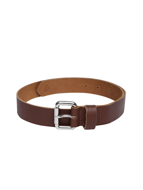 VIARI Women Brown Solid Leather Belt