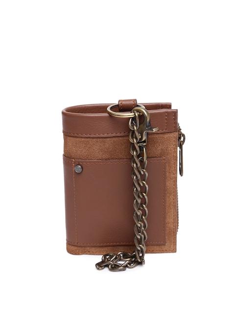 VIARI Men Brown Leather Two Fold Wallet