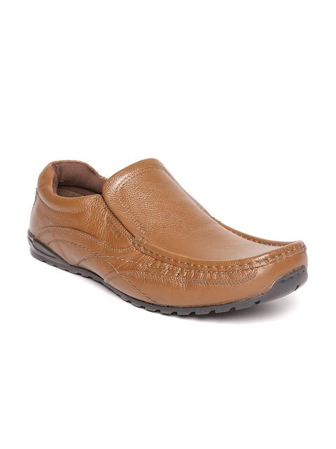 Red Tape Men Tan Brown Leather Semiformal Slip-Ons