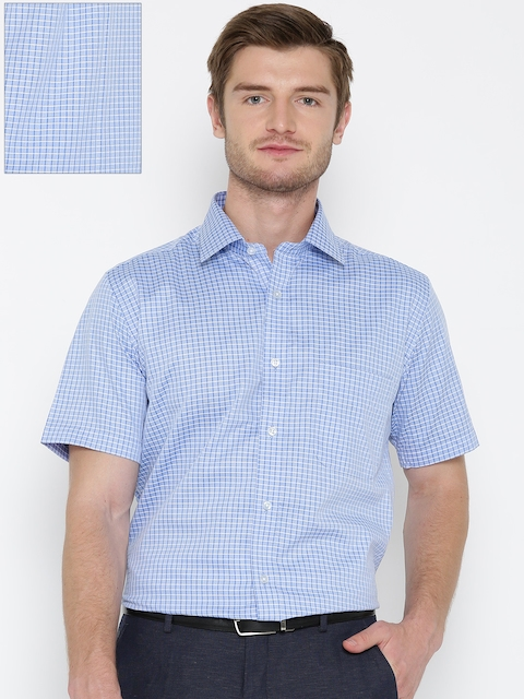Arrow Men Blue Checked Formal Shirt