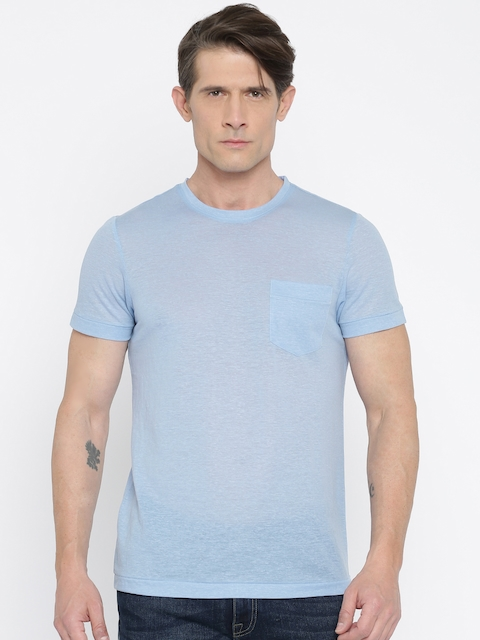 Arrow Sport Men Blue Solid Round Neck T-shirt  available at myntra for Rs.559