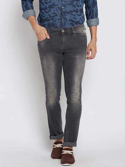 Pepe Jeans Men Grey Regular Fit Mid-Rise Mildly Distressed Stretchable Jeans