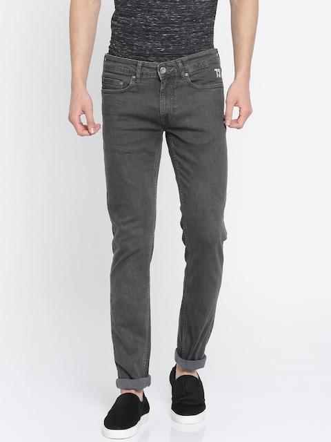 Pepe Jeans Men Beige & Beige Lean Slim Fit High-Rise Highly Distressed Jeans