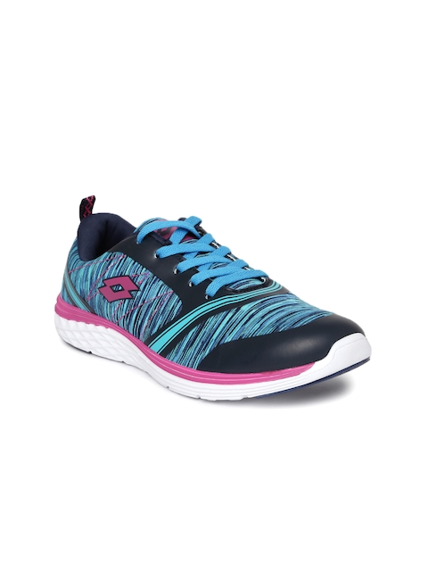 Lotto Women Blue Printed Vito Running Shoes