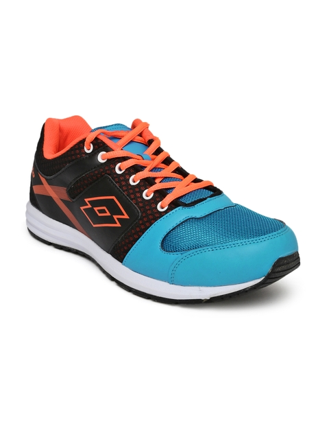 Lotto Men Black & Blue Colourblocked Corsa Running Shoes