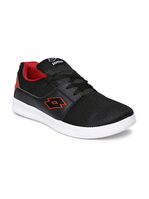 Lotto Men Black String Running Shoes
