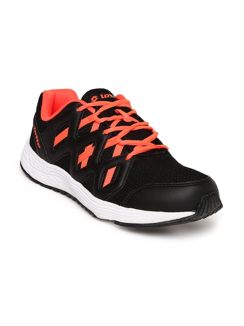 Lotto Men Black Sleek Running Shoes