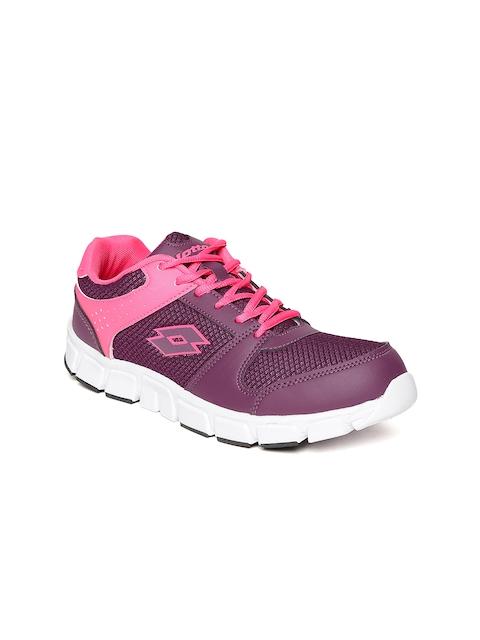 Lotto Women Purple Sancia Woven Design Track Running Shoes