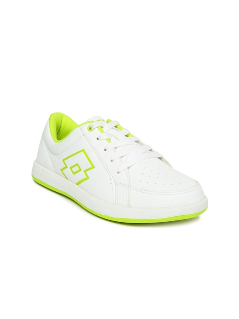 Lotto Women White Logo Plus Perforated Sneakers