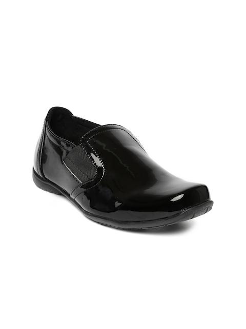 Catwalk Women Black Slip-On Sneakers