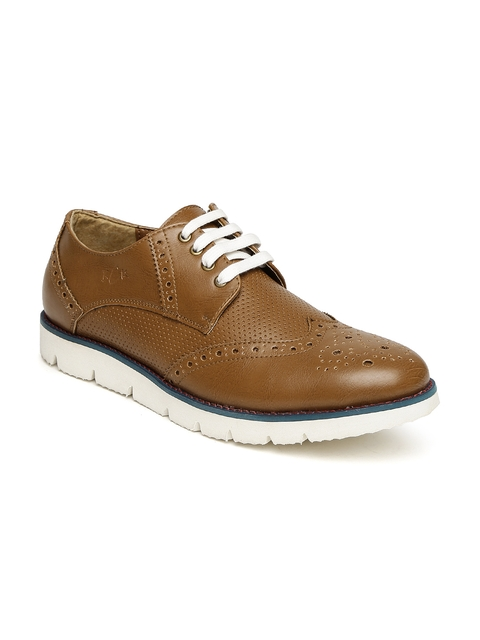 Buckaroo Men Tan Brown Perforated Brogues
