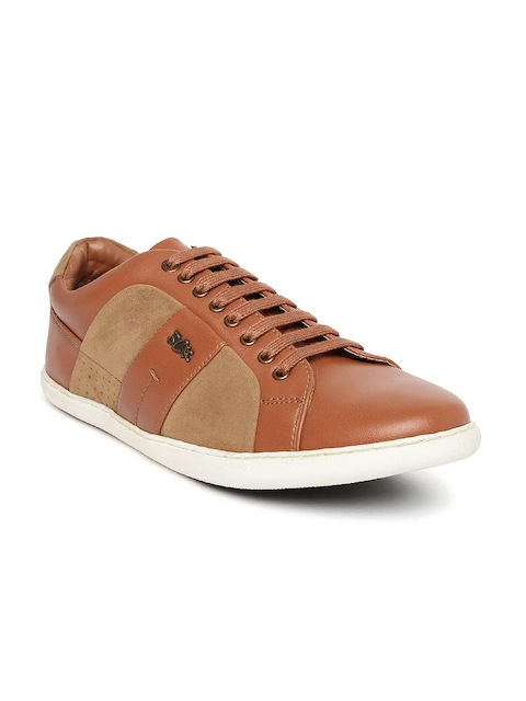 Buckaroo Men Tan Brown Colourblocked Sneakers