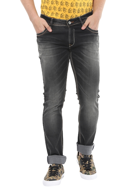 SPYKAR Men Black Super-Skinny Fit Low-Rise Clean Look Jeans