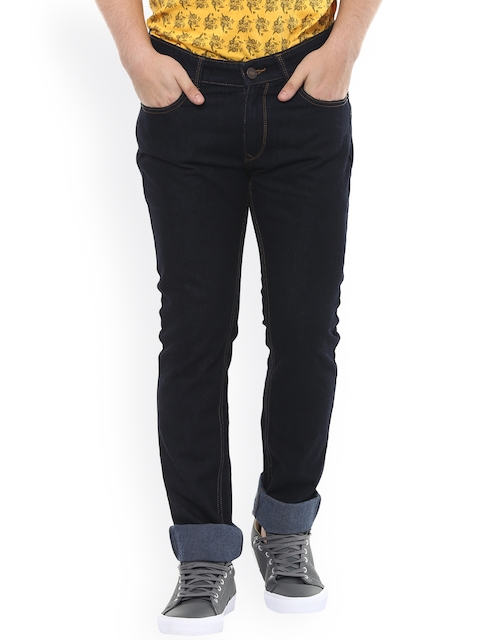 SPYKAR Men Blue Tapered Fit Low-Rise Clean Look Jeans  available at myntra for Rs.1049