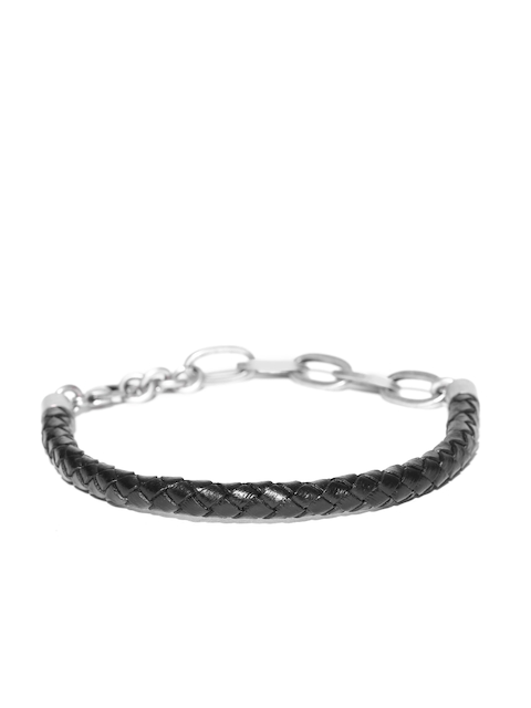 Being Human Men Black Braided Bracelet