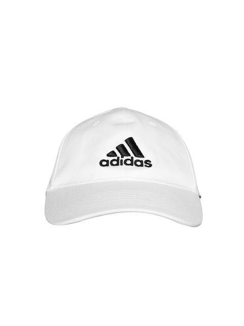 Adidas Unisex White 6P Cotton Training Cap