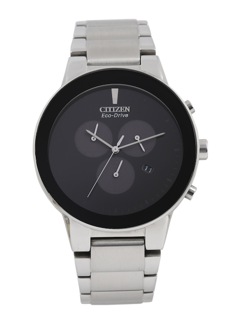 Citizen Men Black Eco Drive Analogue Watch AT2240-51E