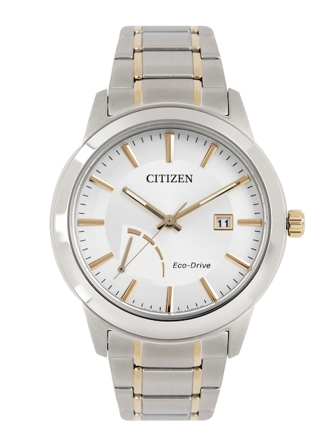 Citizen Men Silver-Toned Eco Drive Analogue Watch AW7014-53A