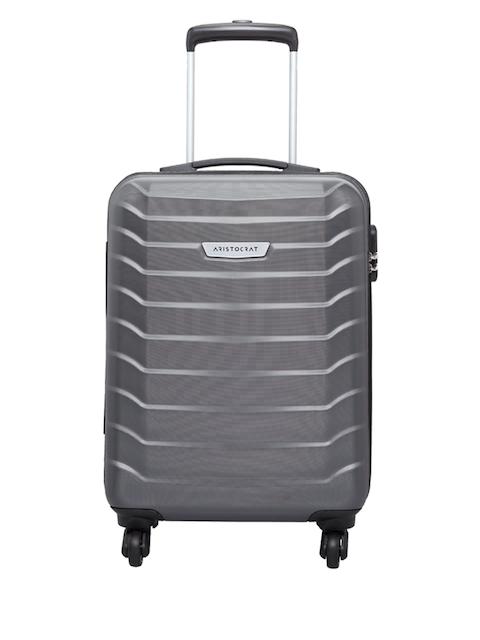 Aristocrat Unisex Grey Cabin Trolley Suitcase