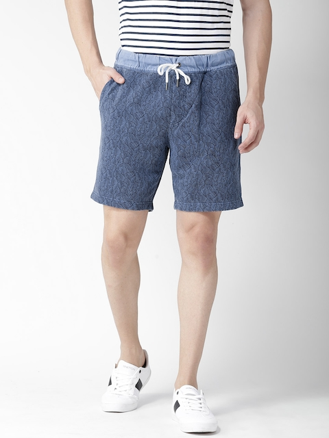 Tommy Hilfiger Men Blue Printed Shorts