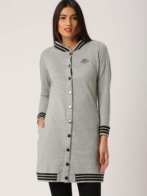 all about you from Deepika Padukone Women Grey Solid Sweatshirt