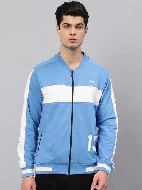 HRX by Hrithik Roshan Men Blue Solid Sweatshirt